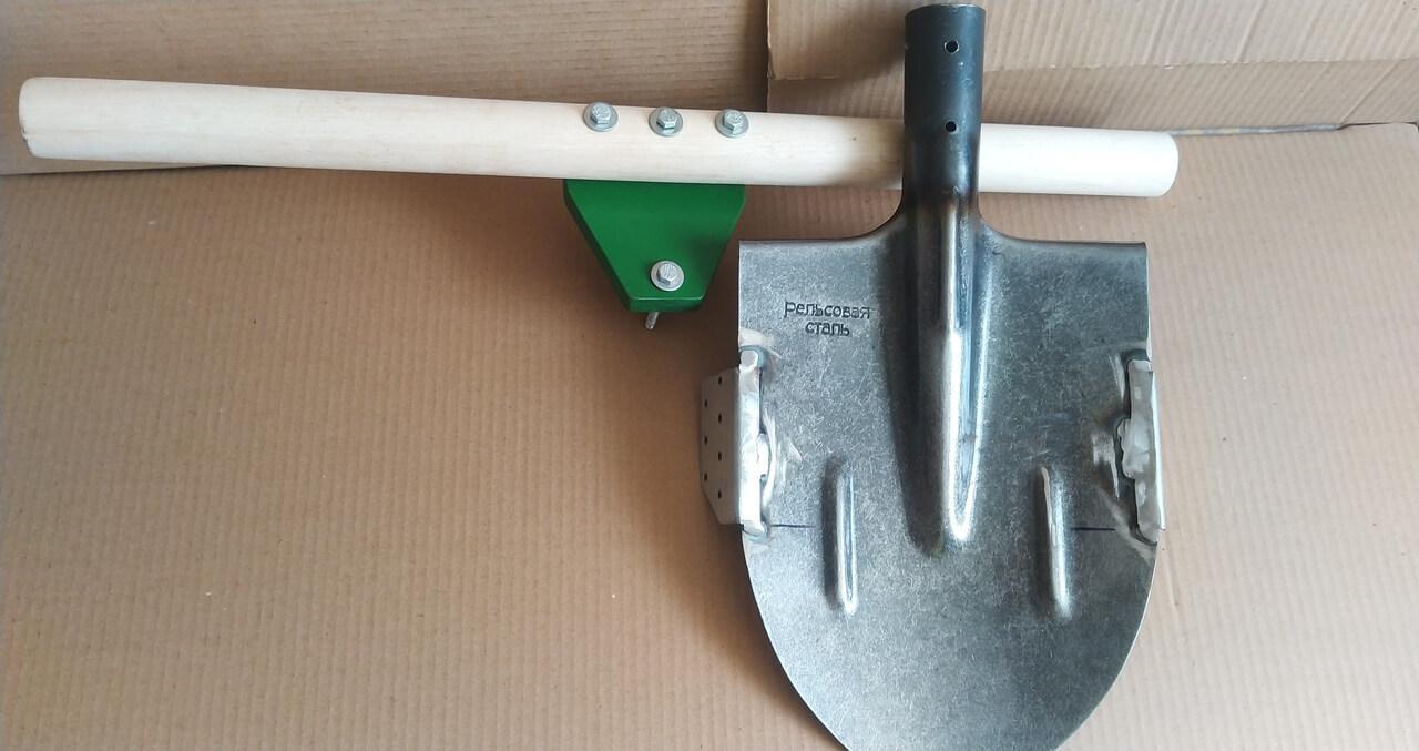 Лопата для целины и дёрна - комплект на фото